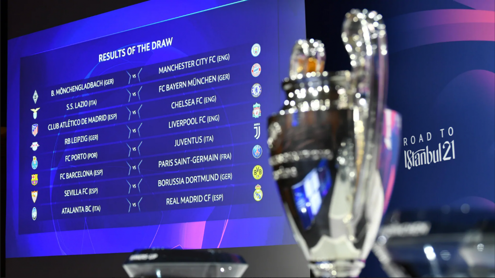 Round of 16 of the Champions League 2020/2021