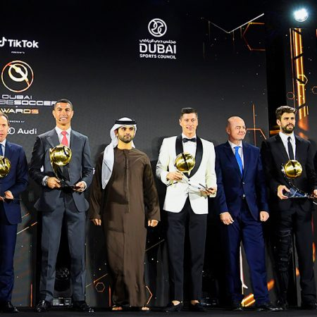 Ronaldo, Real Madrid and Guardiola awarded at the Globe Soccer Awards