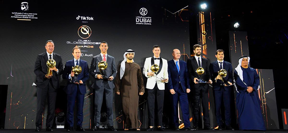 Ronaldo, el Real Madrid y Guardiola premiados en los Globe Soccer Awards